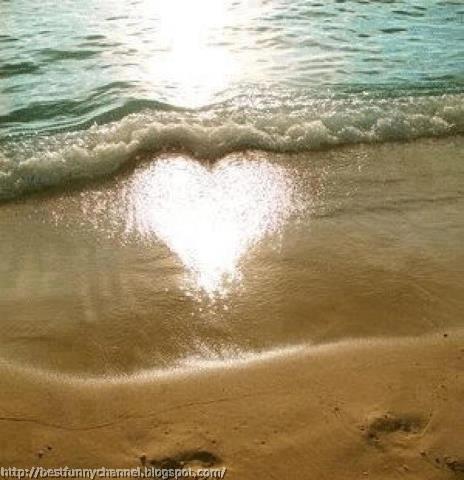 Waves and sun heart.