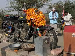 Bullet Bike at Bullet Baba Temple