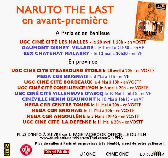 Naruto The Last - Avant-premières françaises