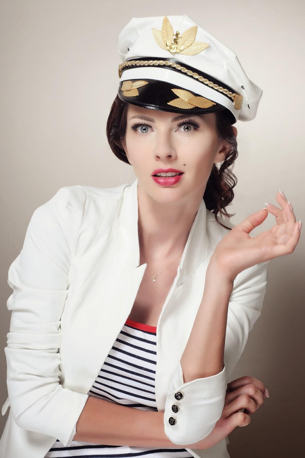 [131.] Sesja beauty: marynarskie klimaty oraz moja propozycja makijażu ślubnego.