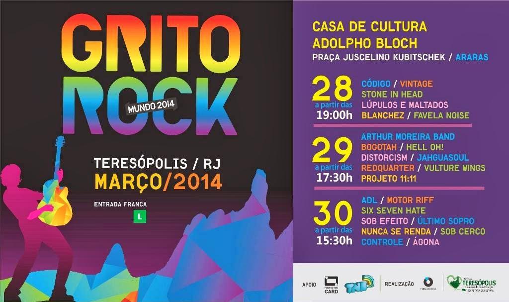 1º Grito Rock está agitando Teresópolis - programação completa