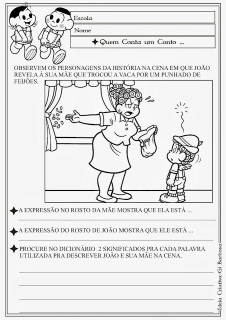 Atividade - Consulta ao Dicionário / Temática Contos de Fada/ João e o Pé de Feijão