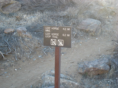 Lost Horse Mine Loop Trail Sign
