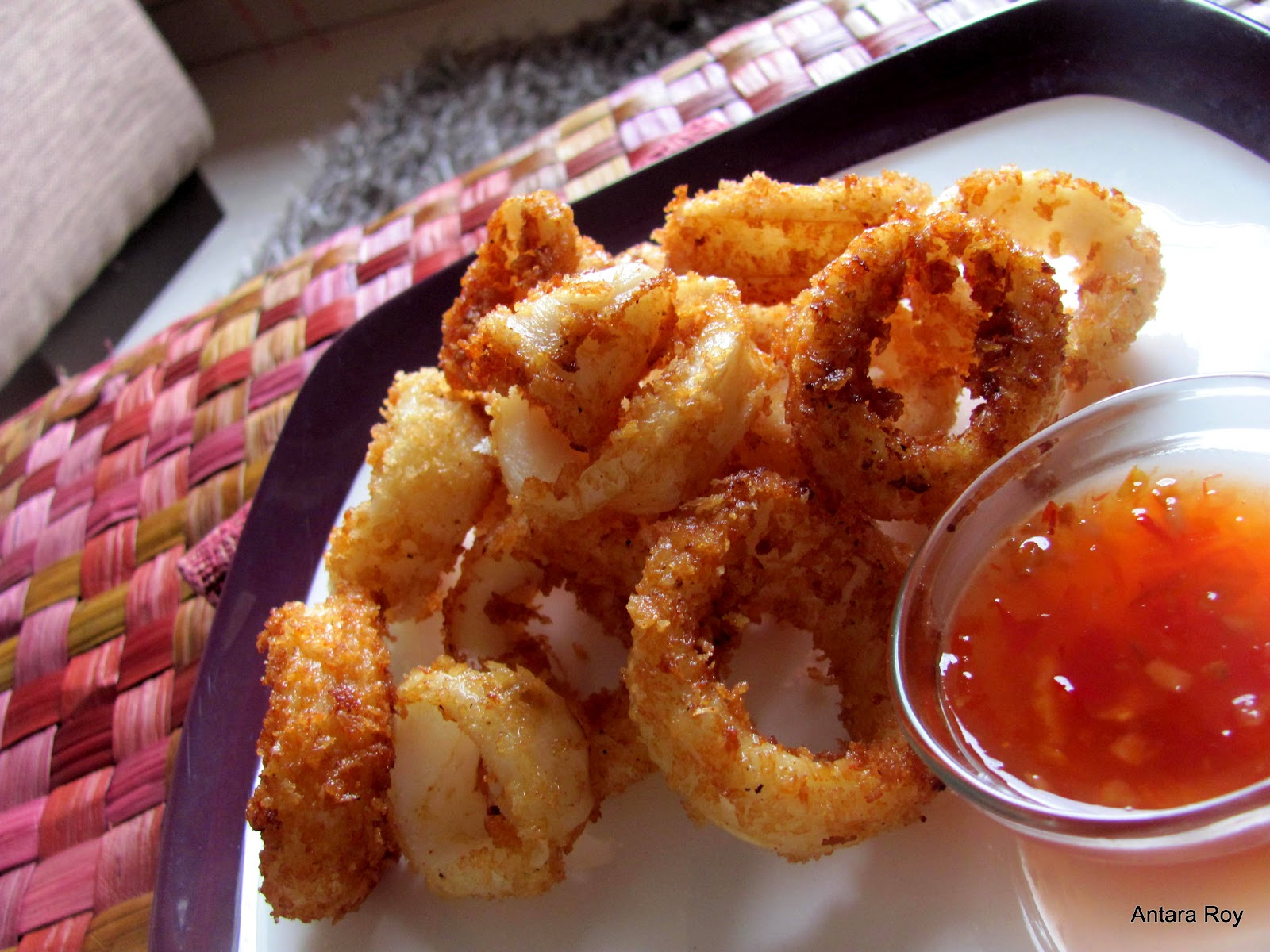 How much do you need to fry squid