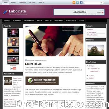 Laborista blogger template. template blogspot magazine style