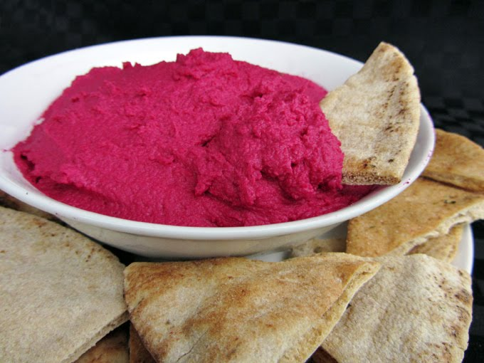 Beet Hummus | Once Upon a Cutting Board
