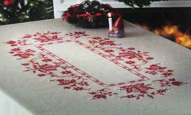 La casa de chichi manteles navide os pintados a mano - Manteles navidenos ...