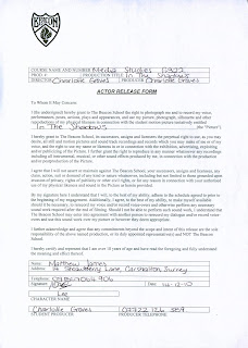 Actor Release Forms