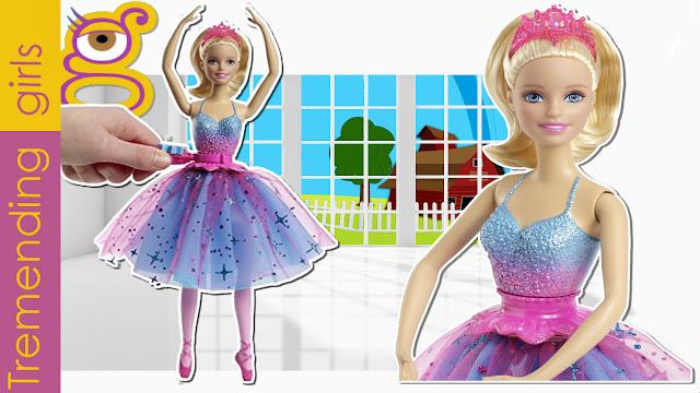 Vídeo Nueva Muñeca Barbie Bailarina Giros Mágicos - juguetes barbie toys