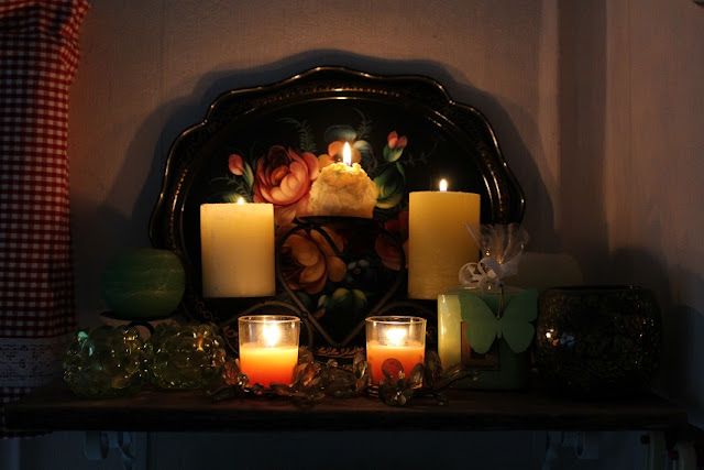 kynttilät, tarjotin