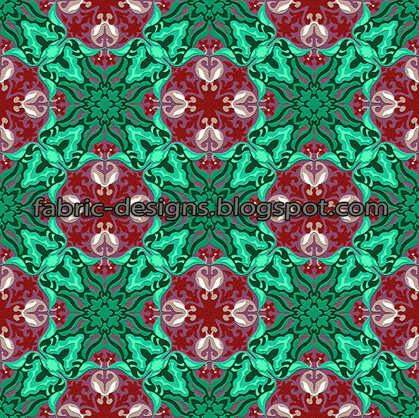 textile geometrical design in square
