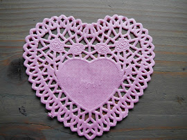Herz-Doily rosa klein (10x10cm)