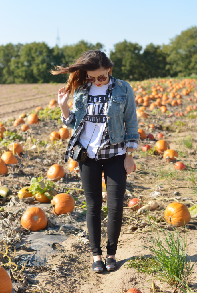 Raspberry Jam: Outfit 169 - Plaid Shirt Blouse with Denim ...