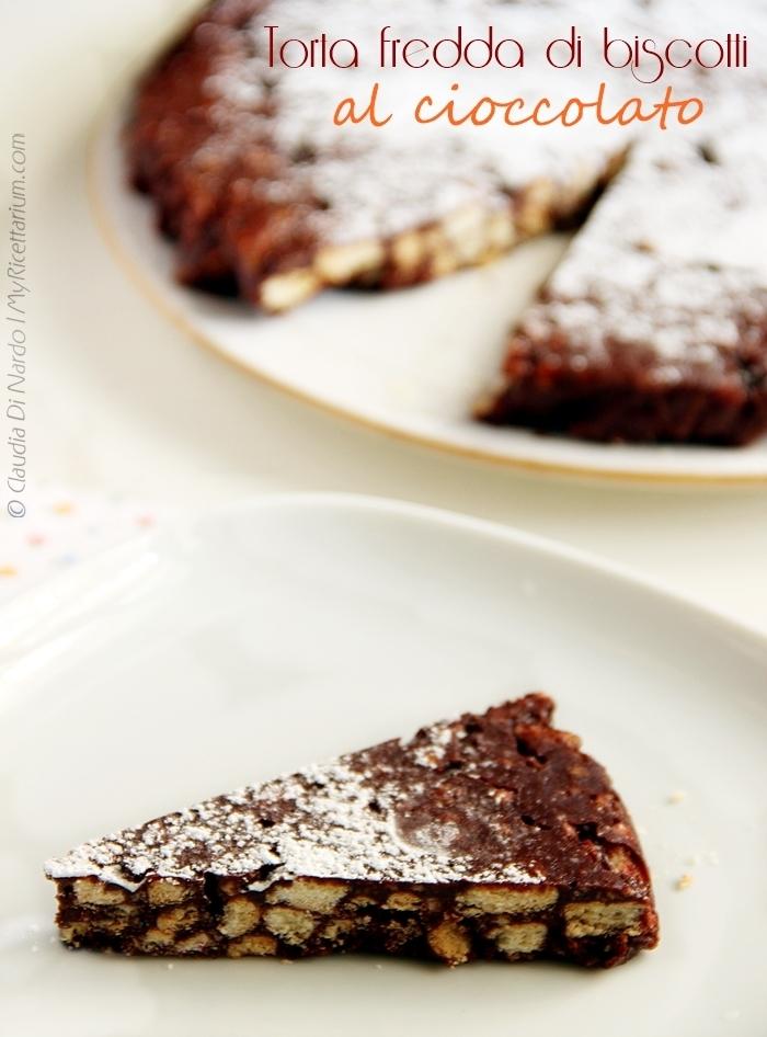 torta fredda di biscotti al cioccolato (senza uova, senza burro)