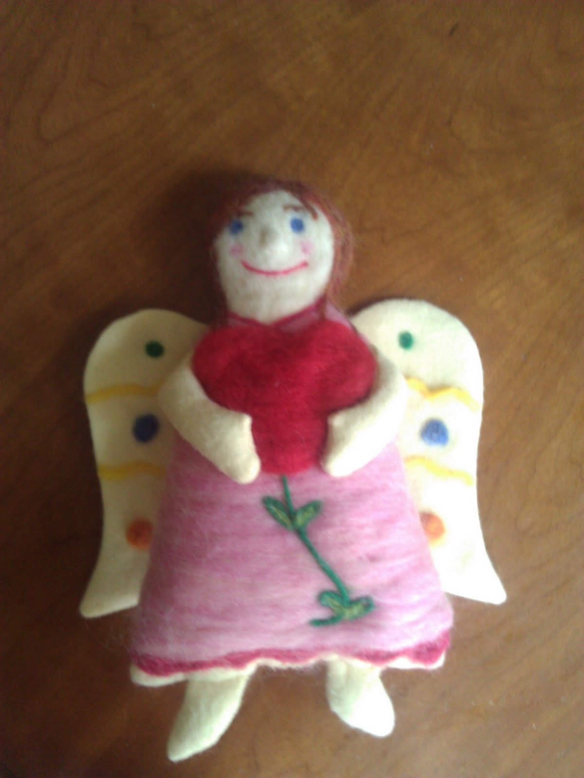 needle felted angel instructions