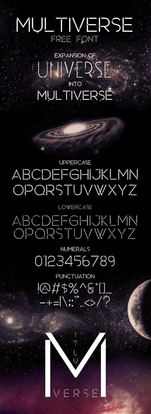 Günün Ücretsiz Fontu: Multiverse