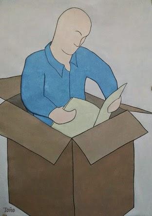 Lendo e ilustrando. Autor: Antón Vidal