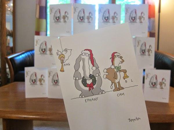 humorous bouton christmas card