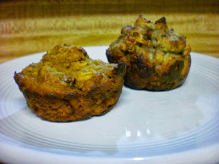 pumpkin muffin with banana muffin