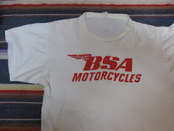60's BSA  MOTORCYCLE PRINTED  Tee SHIRTS
