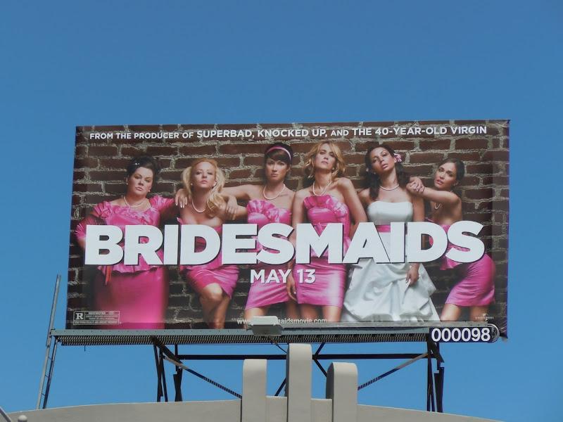 Bridesmaids movie billboard