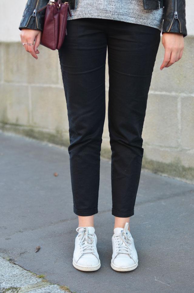 pantalon noir femme stan smith