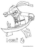 Mewarnai Gambar Ninjago Kai