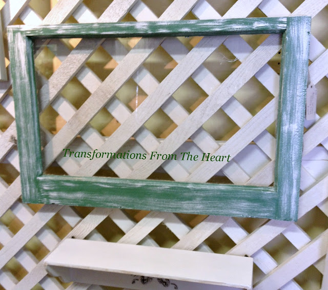 old window frame painted