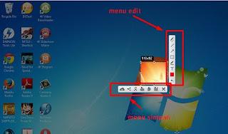 Proses Printscreen dengan Ligshot