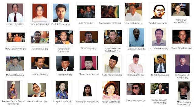 sebagian wajah-wajah koruptor di Indonesia