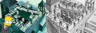 Wchodzenie i schodzenie, Maurits Cornelis Escher