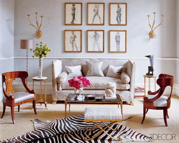 Eye For Design: Decorating With Zebra Rugs....A Contemporary Classic