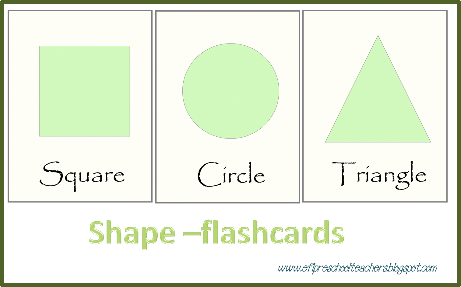 ESL/EFL Preschool Teachers: Shapes Activities for Preschool ELL