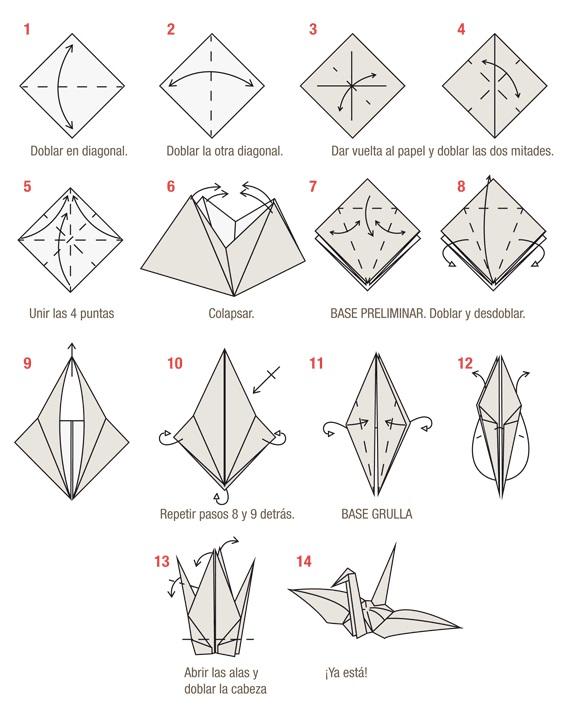 Zeremi: Como hacer una grulla en Origami