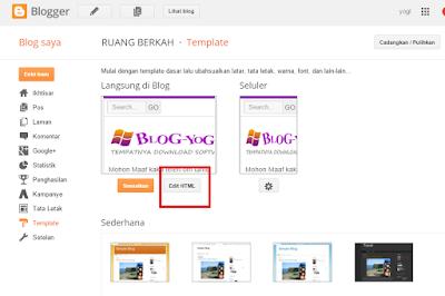 Cara Menambahkan jQuery Pada Template Blogger