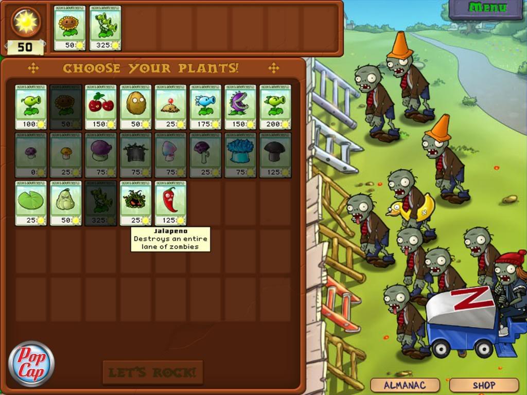 Juegos plants vs zombies