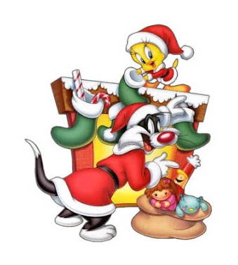7 Free Disney Characters Tweety Merry Christmas Holiday Wallpaper