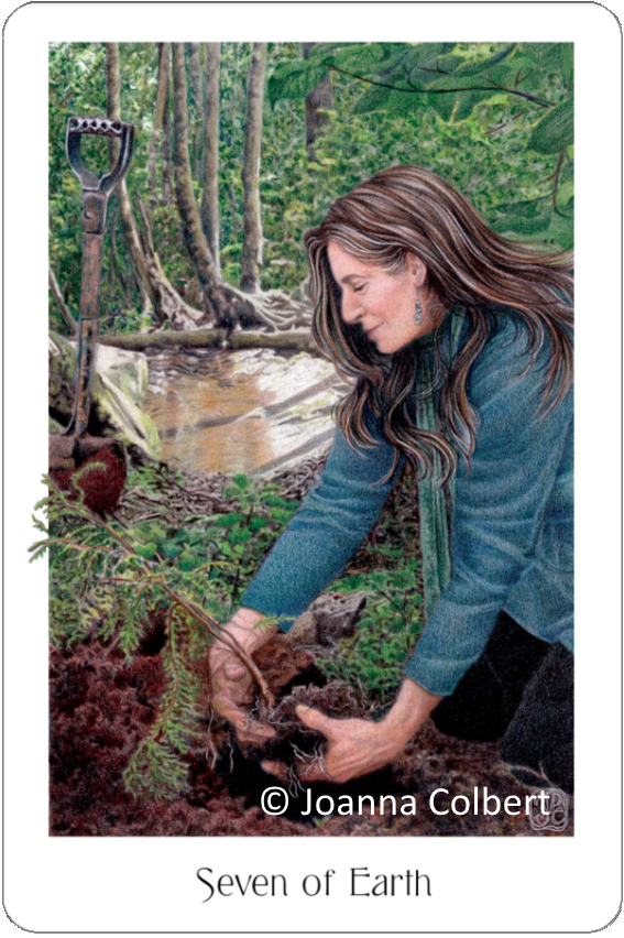 Gaian Tarot Seven of Earth Joanna Colbert