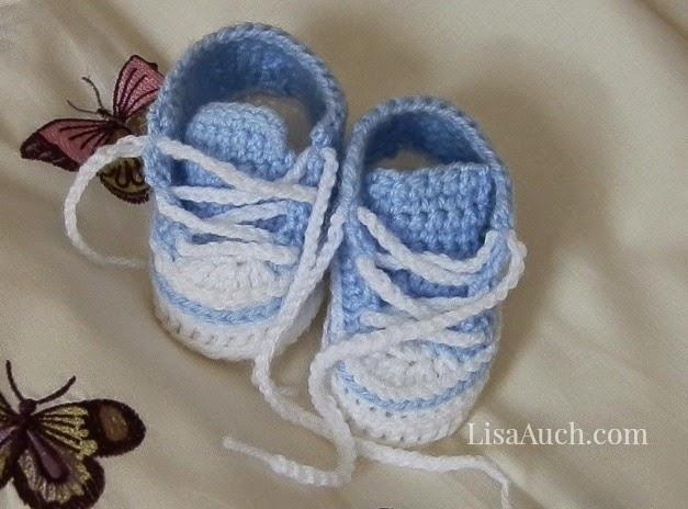 Crochet Baby Converse Pattern Free : Crochet Baby Sneakers Free Pattern