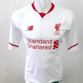 gambar detail jersey musim depan Jersey Resmi Liverpool away New Balance terbaru musim 2015/2016 kualitas grade ori enkosa sport toko jersey online terlengkap dan terpercaya