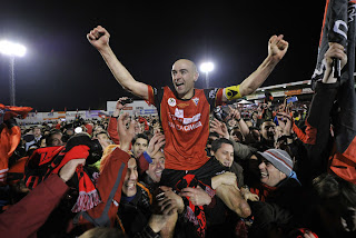 Pablo Infante, futbolista estrella del Mirandés