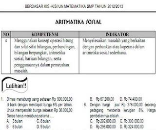 bank soal latihan ujian nasional smp
