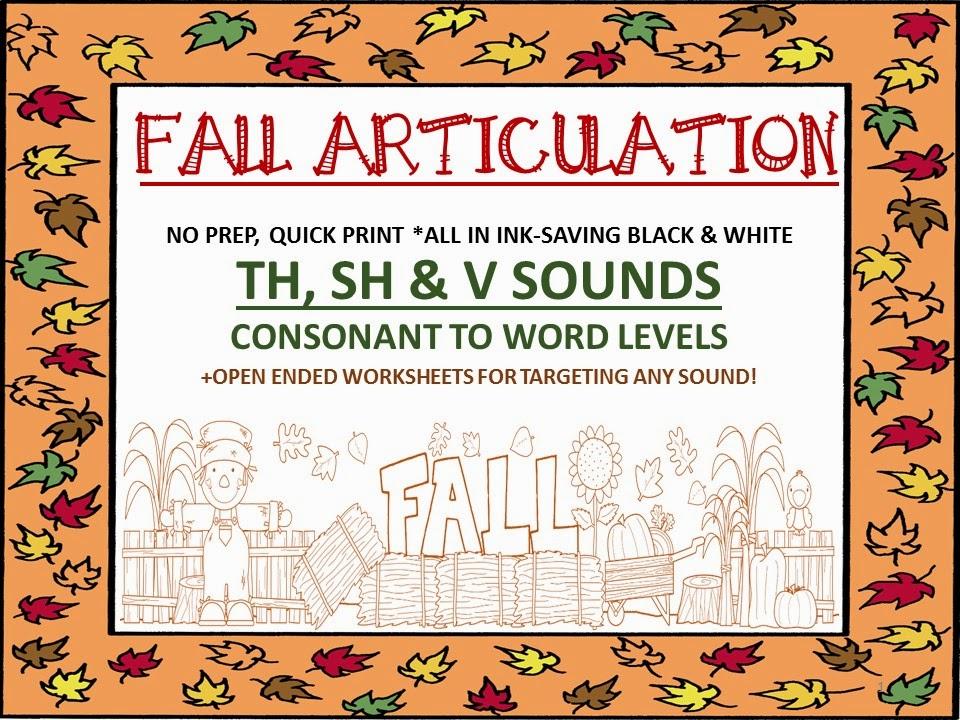 http://www.teacherspayteachers.com/Product/Fall-Articulation-No-Prep-Quick-Print-Unit-TH-SH-V-open-ended-sheets-1388187