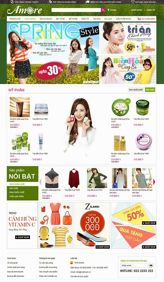thiết kế website bán hàng quần áo chuyên nghiệp