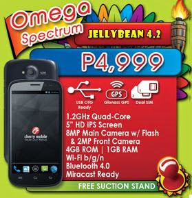 Cherry Mobile Spectrum, 5-inch HD IPS Quad Core For Php4,999