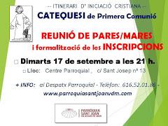 REUNIÓ CATEQUESI DE PRIMERA COMUNIÓ