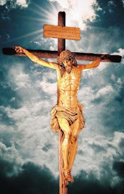 Com ele nos morremos e ressucitemos na gloria de Deus pai.