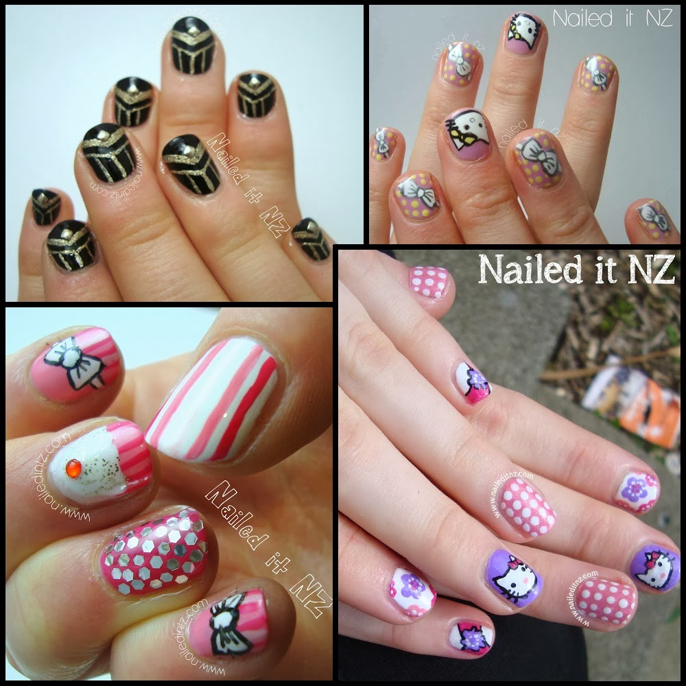 Four Nail Designs - The Great Gatsby, Hello Kitty (times two ...