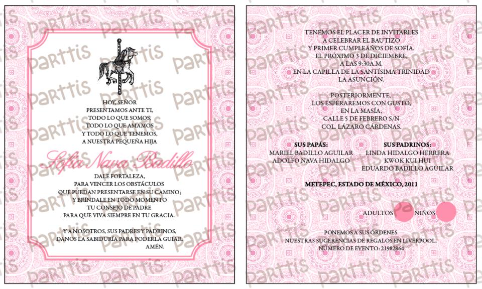 PARTTIS: 12 oraciones para invitaciones :: Bautizo / Primera Comunión