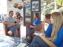 Entrevista para o pessoal do Jornal O Literal